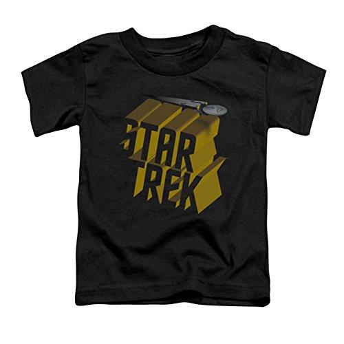 Star Trek - - T-shirt pour jeunes enfants 3D Logo, 2T, Black