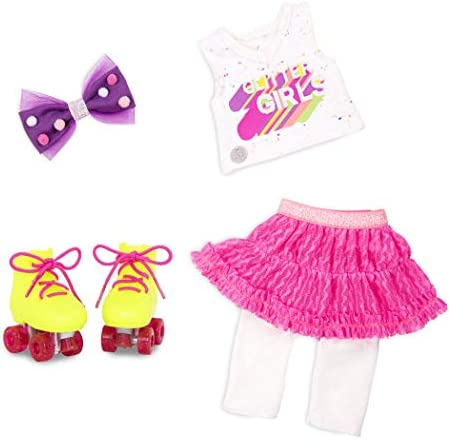Glitter Girls by Battat Roller Skating Fun 14 Deluxe Doll Outfit with Roller Skates Toys Clothes product image