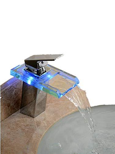 Grifo de color inductivo con temperatura y LED RGB, para cuartos de baño y cocinas