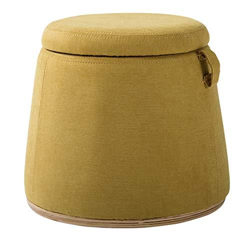 Gewatteerde voetenbankje, voetenbankje, gevoerd, bank, kruk, stoel, draagbaar, multifunctioneel, ruimtebesparend, draagbaar, linnen, dik schuimrubber binnenin, cadeau.