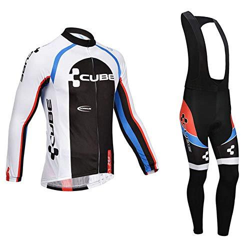 Abbigliamento Ciclismo Uomo, Completo Maglia Ciclismo con i Pantaloni da Ciclismo Asciugatura Asciugatura Rapida per MTB Ciclista