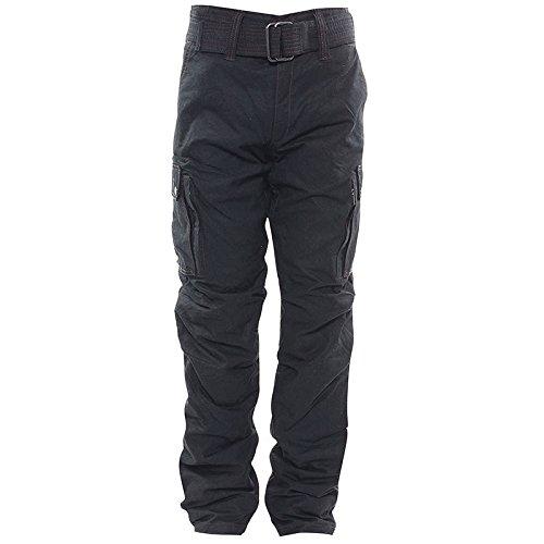Bores Siggle Cuissard de moto en toile cirée Intérieur Indéchirable Imperméable Noir Taille 28