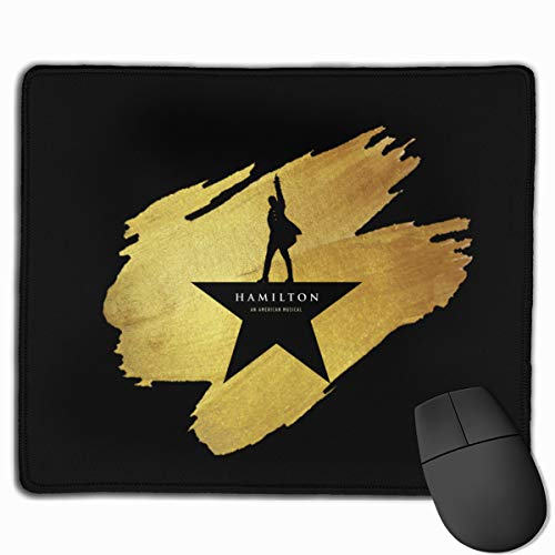 customgogo Hamilton American Musical Gaming Mouse Pad Waterproof Rubber Mousepad Non-Slip Gaming Mouse Mat for Kids Teens Adults 10 X 12 Inch
