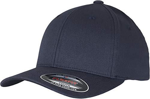 Flexfit Unisex Wooly Combed Unisex Kappe ohne Verschluss für Herren, Damen und Kinder Wooly Combed Baseball Cap, darknavy/darknavy, S/M (Herstellergröße: S/M)