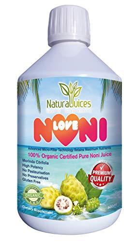 Natural Juice LoveNONI Pure Organic Certificado Noni Jugo 500 ml