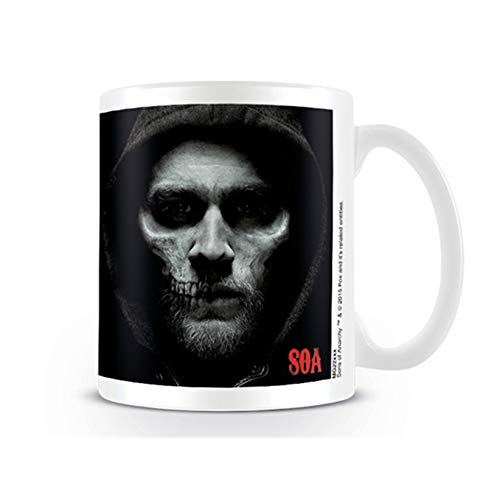 Sons of Anarchy Taza de cerámica Jax de Calavera, Multi-Color