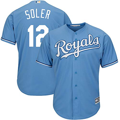 Jorge Soler Kansas City Royals Youth 8-20 Light Blue Alternate Cool Base Replica Jersey (14-16)