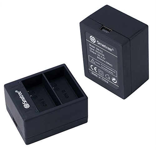 Smatree Rechargeable Battery and Dual Charger Compatible for GoPro Hero3+ / Hero 3 Camera