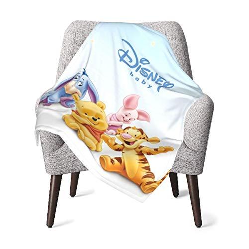 Hdadwy Winnie The Pooh - Manta para bebé recién nacido, manta transpirable, adecuada para unisex, niños, niñas, recién nacidos, bebés y niños Swaddle de 30 x 40 pulgadas