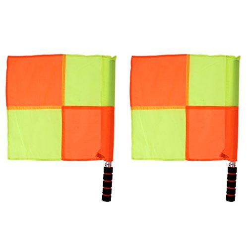 FLAMEER Impermeables Banderas de Árbitro Color Brillante Herramientas de Fútbol para Prácticas y Entrenamientos