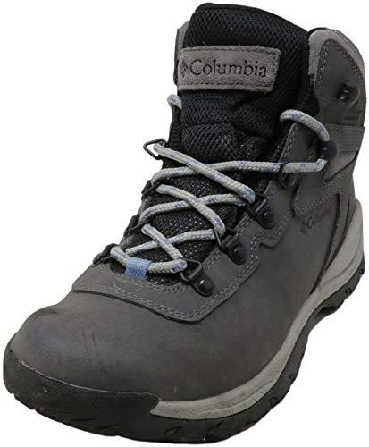 Columbia womens Newton Ridge Plus Waterproof Hiking Boot, Quarry/Cool Wave, 8 US
