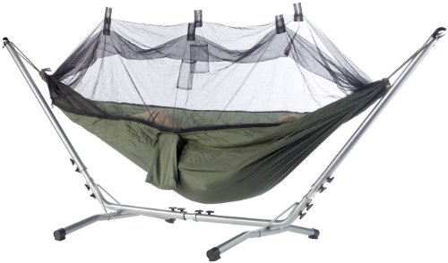 Toile de hamac en soie de parachute avec moustiquaire