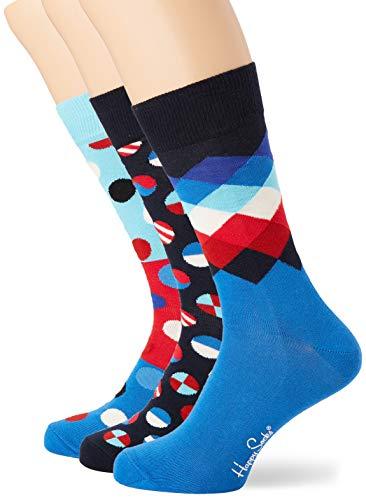 Happy Socks Herren Navy Gift Box Socken, Mehrfarbig (Multicolour 650), 7/10 (Herstellergröße: 41-46)