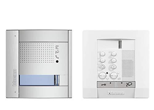 Audio Sprechanlagen-Set, 2-Draht für 1-Familienhaus mit SFERA Allmetal Audio-Türstation, Netzgerät und POLYX-Audio Hausstation