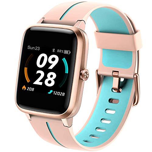 Vigorun Smartwatch GPS,Fitness-Tracker,5ATM Wasserdicht Fitness Armbanduhr,1,3 Zoll Touch Farbdisplay Fitness Armband mit Wettervorhersage Pulsuhren Schrittzähler Schlafmonitor für Damen Herren