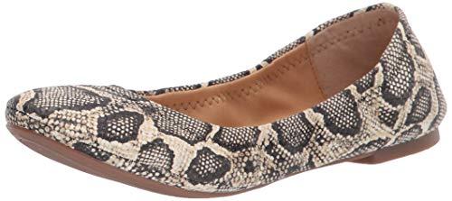 Lucky Brand womens Emmie Ballet Flat, Natural Snake, 6.5 US