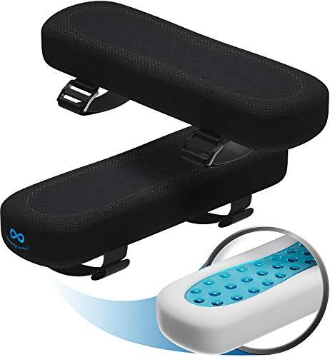 Everlasting Comfort Armlehnenpolster, Armlehnenbezug für Bürostuhl, Memory-Schaum-Kissen mit Gel-Kühlkissen (2er-Set)