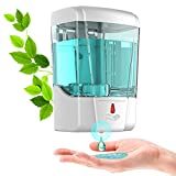 GUKOK Automatic Soap Dispenser Wall Mounted, Simple Human Touchless Hand Soap Dispenser for Kids...