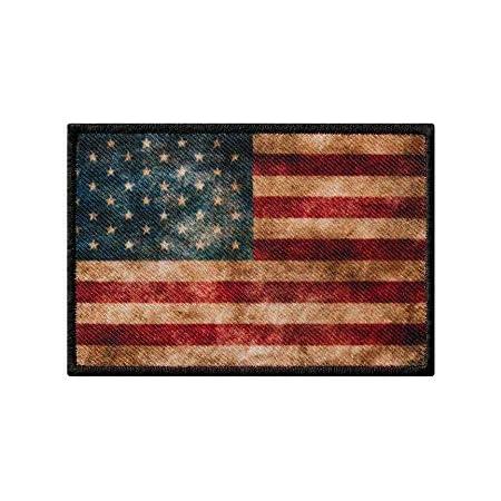 40 X 25 Mm Amerika Flagge Usa Flag Washington Patch Aufnäher Aufbügler 0640 A Auto