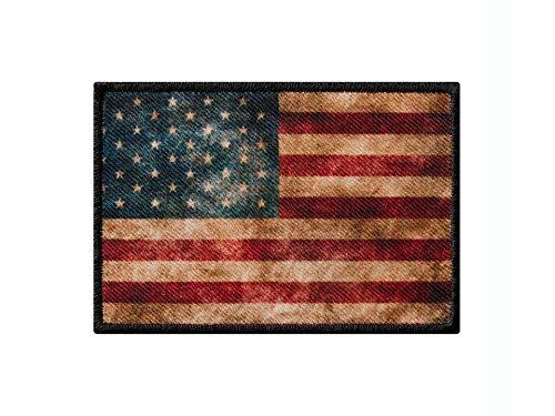 Monoquick Bügelbild Applikation Aufnäher Patch Flagge Fahne USA Vintage 8,0 cm x 5,5 cm