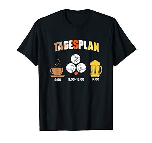 Boule Tagesplan Kaffee Bier Petanque Boccia Geschenk T-Shirt