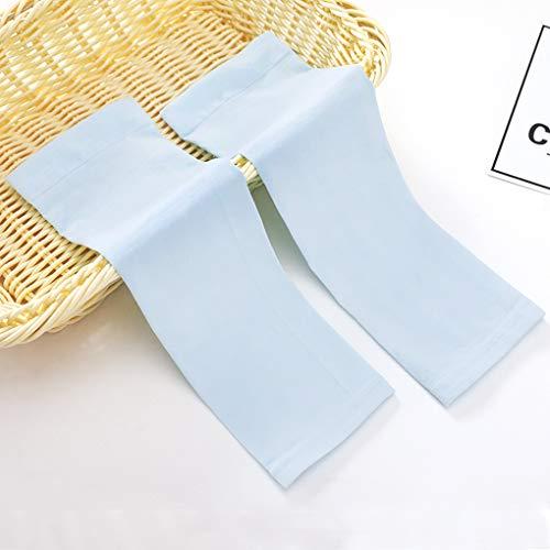 IPENNY - Mangas de protección solar de verano para niños, manga de protección UV, protección solar, 1 par de mangas de protección para brazo de deporte, azul, 32*9CM