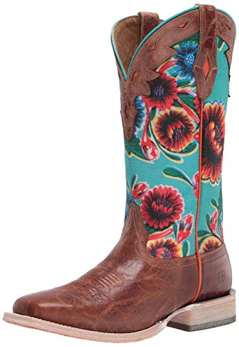 Ariat Women's Circuit Champion Western Cowboy Boot, Bitter the Dust Brown, 7 B US