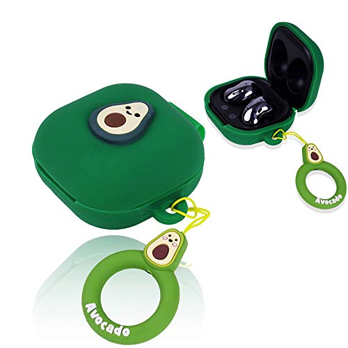 APOSU Silicone Case for Galaxy Buds Live 2020, Cute Protective Cover Skin Kawaii Case Accessories Kits for Sumsung Galaxy Buds Live Funny Cartoon Earpod Case (Green)