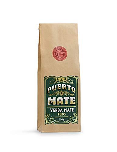 PUERTO MATE® – Yerba Mate Tee (150g) Schonende Trocknung, koffeinhaltiger, natürlicher Wachmacher aus Argentinien. Im praktischen Nachfüllbeutel.