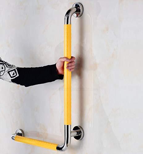XIN Garde-corps De Sécurité Anti-dérapant Salle De Bains En Forme De L Garde-corps Toilettes Salle De Bains Personnes Âgées Handicapées Mains Courantes (Couleur : Yellow-Left side)