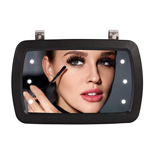 WlP Espejo De Visera De Coche con 6 Luces LED Maquillaje Sombreado Solar Cosmético Espejo HD Pantalla Táctil Espejo De Vanidad Espejo De Maquillaje para Automóvil Estilo De Automóvil