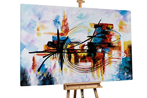 'Light and Dark' 180x120cm | Abstrakt Licht Schwarz XXL | Modernes Kunst Ölbild