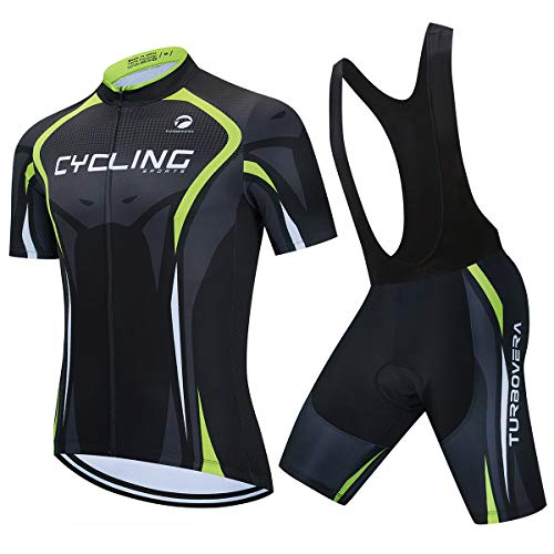 AICTIMO Traje Ciclismo Maillots Ciclismo Hombre Verano+ Pantalones Corto Ciclismo Acolchado de...