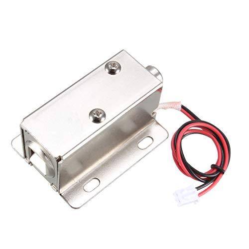 sourcing map Cerradura de solenoide electromagnética de montaje de 8,5mm DC 24V 0,15A para Cerradura de puerta eléctrica
