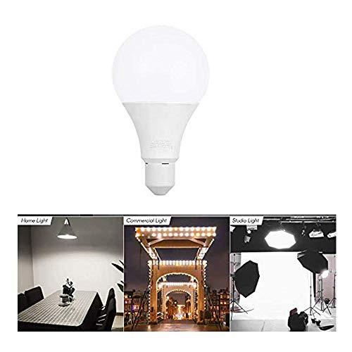 Andoer E27 30 W ahorro de energía bombilla LED lámpara 5500 K luz blanca suave para foto video estudio hogar iluminación comercial