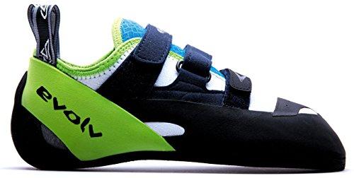 Evolv Supra Climbing Shoes - White/Neon Green 11.5