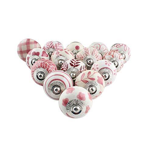 IndianShelf Handmade Pack of 25 Assorted Pink Mix Drawer Knobs Combo Dresser Handle Door Pulls Online Designer