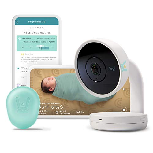 Lumi by Pampers Smart Baby Monitor and Sleep System Registry Bundle: HD Video Baby Monitor (with Camera and Audio) + 1 Sleep Sensor + 3 Packs of Diapers (1 x Newborn, 2 x Size 1 | 222 Total Diapers)