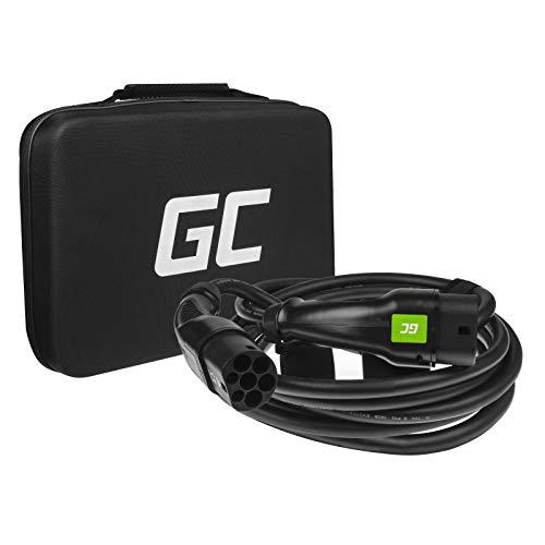 Green Cell® GC Type 2 Cable de Carga EV Vehículo Eléctrico PHEV | 7.2kW | 32A | Tipo 2 a Tipo 2 | 7m | Monofásico | Compatible con BMW i3, Leaf, E-Tron, I-Pace, Kona, eGolf, Ioniq, Peugeot e-208