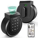 SECURAM Touch Smart Lock Deadbolt, Keyless Entry Door Lock with Fingerprint, Touchpad, Keys, Remote Control via The SECURAM App, Voice Control via Alexa, Easy Installation, Auto-relock and Alarm