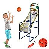 Delaspe Mini juego de baloncesto Arcade baloncesto con canasta de baloncesto y bomba de aire para interiores y exteriores