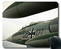 マウスパッドスリップ防止、ジェット航空機着陸停止航空母艦ゲーミングマウスマットパッドエッジのステッチ