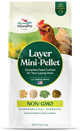 Manna Pro Layer Mini-Pellet | Non-GMO | 10 LB