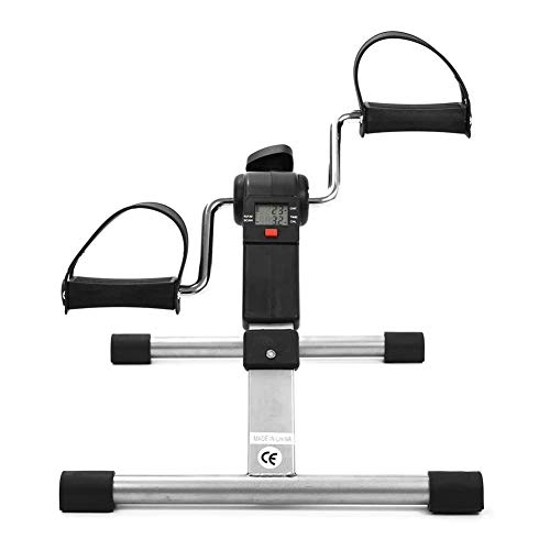 Inicio Ejercitador de Pedal, Peddler de Ejercicio, Bicicleta de Ejercicio Portátil Multifuncional Entrenador de Pedal de Mano Ejercitador de Bicicleta para Ancianos, Empleados de Oficina Equipo de gim