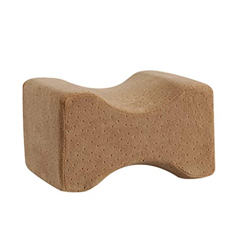 SANFASHION Oreiller Cervical Travel, Support Cervical en Mousse à mémoire de Forme pour Coussin de Fauteuil, Fauteuil Masque de Sommeil et Sac de Voyage Inclus Marron Brown,45 * 45