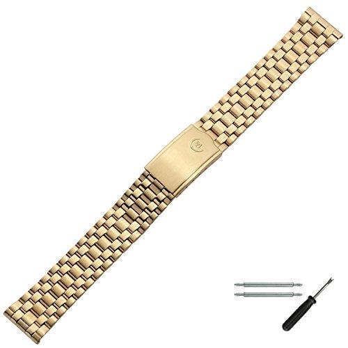 MARBURGER Uhrenarmband 18mm Edelstahl Gold - Werkzeug Montage Set 85009180020