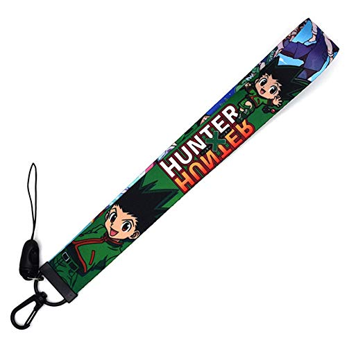 Rumbeast Anime Hunter×Hunter Neck Lanyard Necklace Phone Straps Keychain, Neck Lanyard for ID Badge Holder Bags Accessories Gift for Anime Fans(Short Lanyard 01)