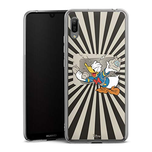 DeinDesign Hard Hülle kompatibel mit Huawei Y6 (2019) Schutzhülle transparent Smartphone Backcover Donald Duck Offizielles Lizenzprodukt Disney