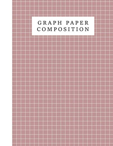 Graph Paper Composition Notebook Rosy Brown Color Background Cover: Grid Paper Journal, Quad Ruled, 110 Pages (Large, 8.5 x 11 i