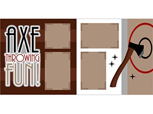 """""""Axe Throwing Fun"""" Scrapbook Page Kit"""